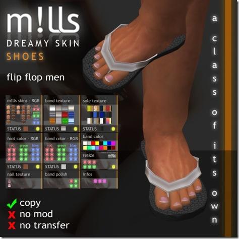 mills flipflops men