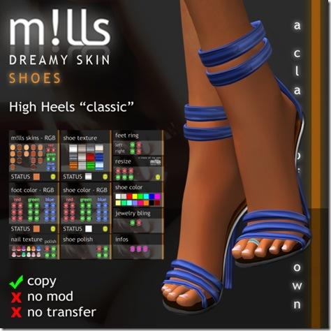 mills high heels classic