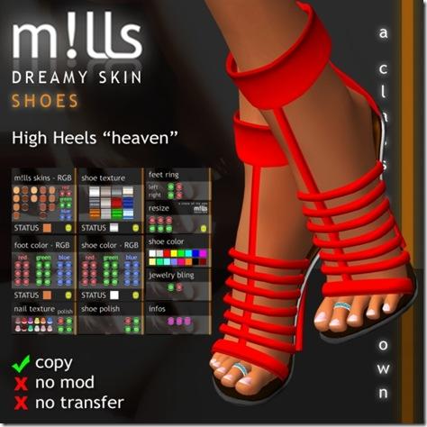mills high heels heaven
