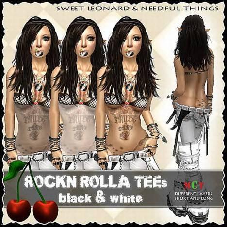 __LEO-NT__ ROCK`N ROLLA _3 TEEs