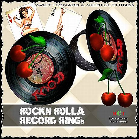 __LEO-NT__ ROCK`N ROLLA RECORD RINGs460