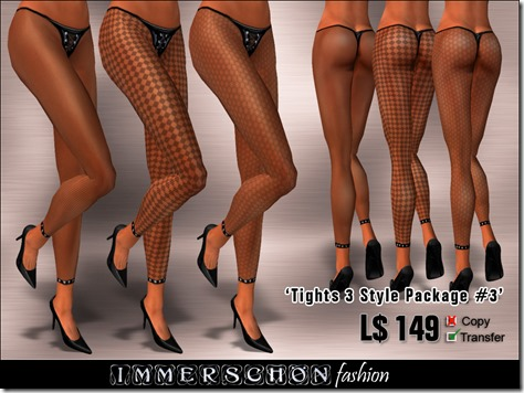 Immerschoen Girl - Tights 3 Style Package #3