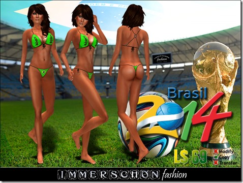 Immerschoen Girl - WM Bikini Brasil 2014 (Green)