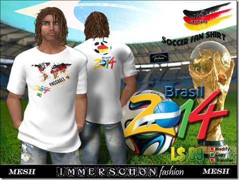 Immerschoen Man - Mesh T-Shirt WM Brasil 2014 Germany