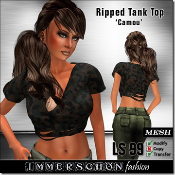 Girl---Ripped-Tank-Top-'Camou'