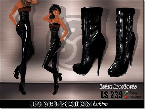 Immerschoen Girl - Latex Laceyboots