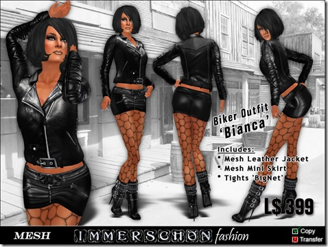 Girl - Mesh Biker Set 'Bianca'