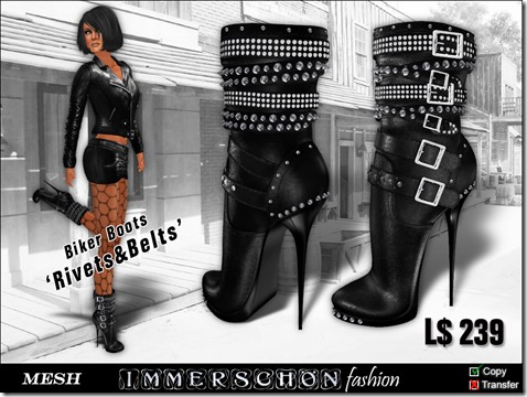 Immerschoen Girl - Mesh Boots Rivets&Belts