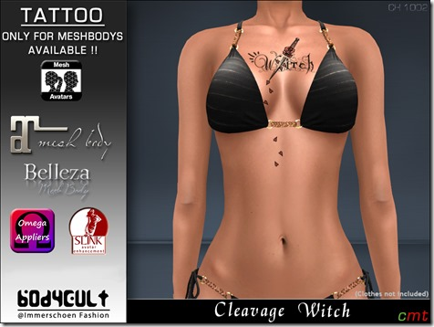 Tattoo Cleavage Witch Ch1002 MB