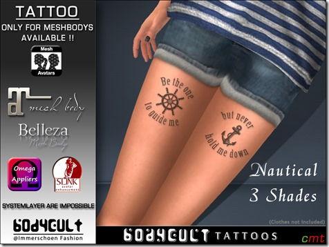 Tattoo Nautical Leg 1000 MB App