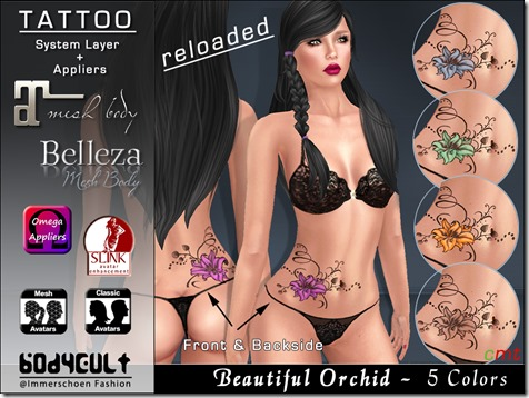 Tattoo Orchids Colors Fatpack Appliers