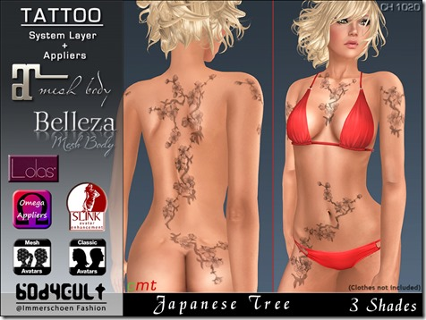 Tattoo Japanese Tree Ch1020 WA