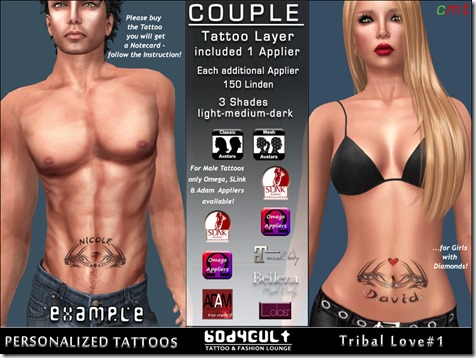 BodyCult Custom Tattoo Couple Tribal#1