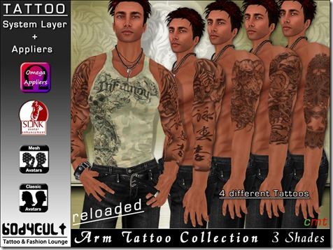 Tattoo Male Arm Collection WA