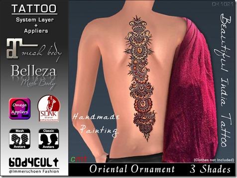 Tattoo Oriental Ornament Ch1021