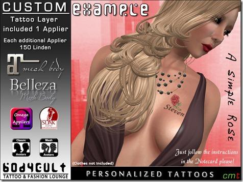 Custom Tattoo A simple Rose WA